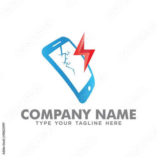 Phone broken screen logo stock image and royalty free vector files phone broken screen logo thecheapjerseys Gallery
