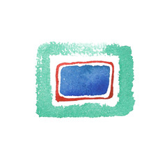 Watercolor objects