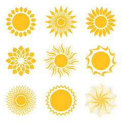 Sun Collection Vector Illustration