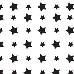 Stars sky black white pattern