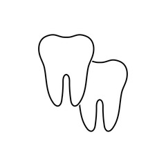 Set of two teeth, vector illustration