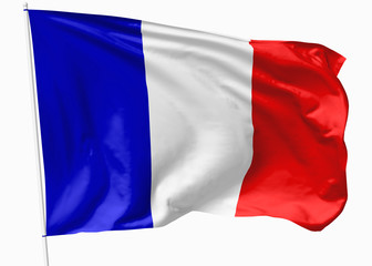 Flag of France on flagpole