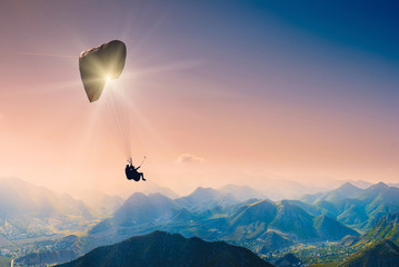 Wall Murals Sky sports Paragliding_1