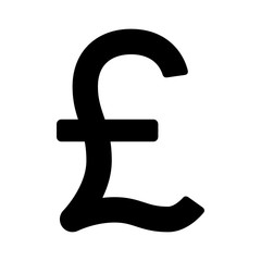 British Pound Sterling currency or pound symbol flat icon for apps and websites