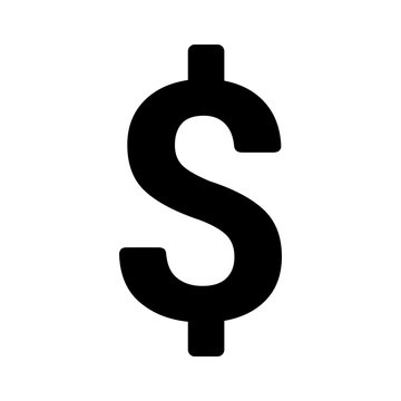 American dollar currency or dollar symbol flat icon for apps and websites