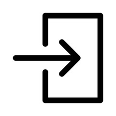 Account login / user login or sign in line art icon for apps and websites