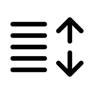 Increase line spacing or increase line leading art icon for apps and websites