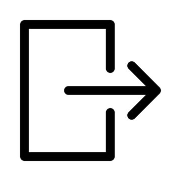 Account / user login or sign in line art icon for apps and websites