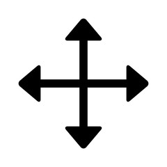 Move directional arrow line art icon for apps and websites