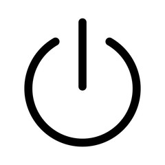turn power on or turn power off line art icon for apps and websites