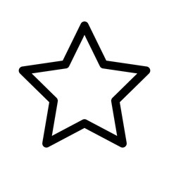 Star rating, movie star or favorite line art icon for apps and websites