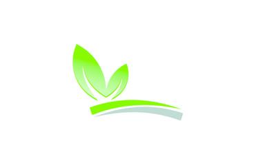 leaf plant farm landscape logo