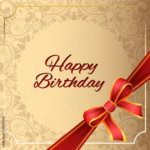 Happy Birthday Greeting Card And Background Design Stock Image And