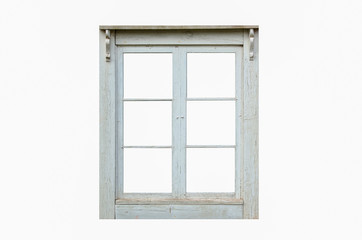 Old residential cut out window