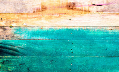 Painted wooden slats