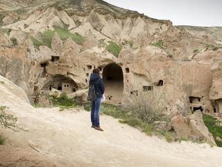 Ihlara valley in Cappadocia, Anatolia, Turkey