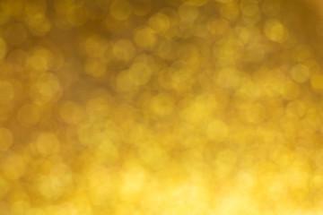 gold background, abstract golden bokeh light celebration