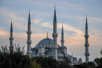 Blue Mosque (Sultan Ahmet Mosque) at sunset Istanbul, Turkey