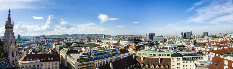 Foto auf Leinwand Wien Aerial View Of Vienna City Skyline