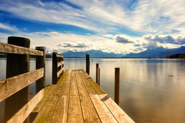 wooden jetty (250) lake chiemsee