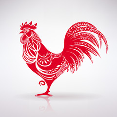 Stylized Red Rooster