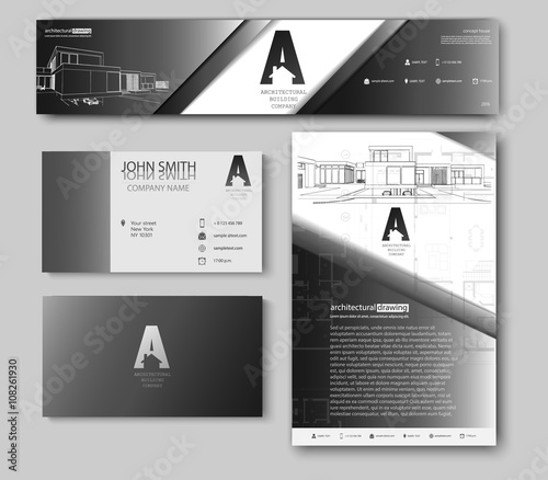 Business cards design with cityscape sketch for architectural business cards design with cityscape sketch for architectural company architectural background for architectural project colourmoves