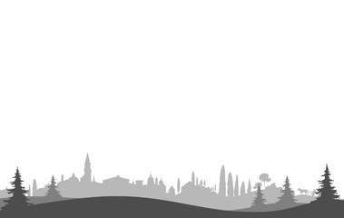 Silhouette Südeuropa - Italien, Spanien, Südfrankreich