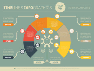 Business concept of infographic with six options. Part of the re