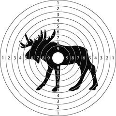 target shooting moose
