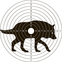 target shooting wolf