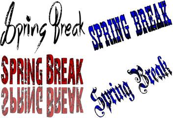 Spring Break Text illustration