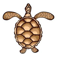 a large sea turtle