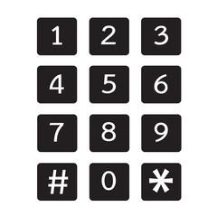 keypad icon illustration design