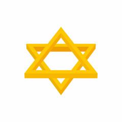 Star of David icon, cartoon style