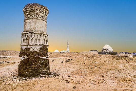 old ruins in the desert in Mokka, Yemen