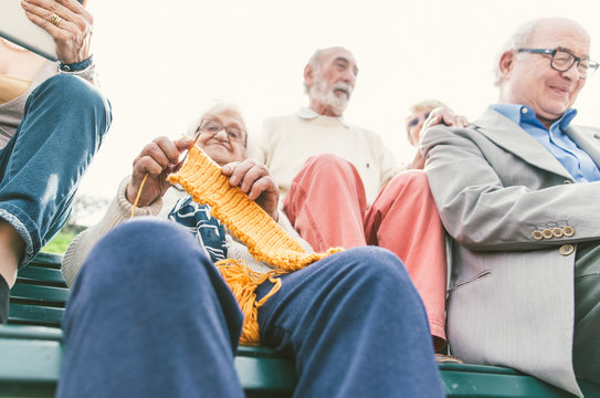 old people group making activities outdoor