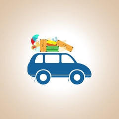 A car with a roof rack. Illustration
