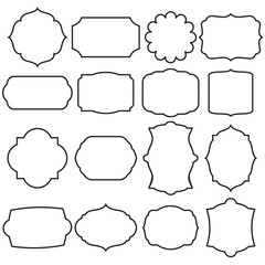 set of vector graphic frames