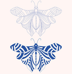 Vector butterfly tattoo shape. best of use your t-shirt, web icon, business logo, body and many place.