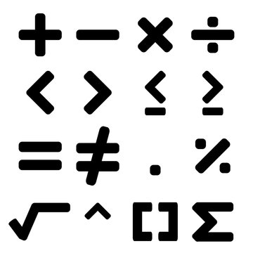 Black math symbol