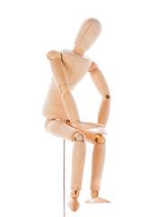 Wooden figure mannequin