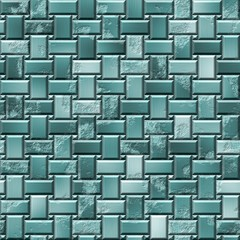 silver metal blue green panels seamless pattern texture background - grunge appearance