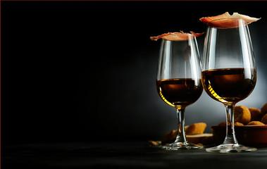 Spanish tapas and sherry aperitif