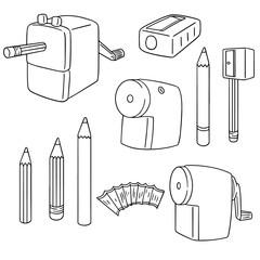 vector set of pencil sharpener