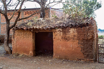 Adobe old house