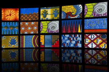 Mosaic of African fabrics