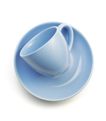 cup and saucer on white