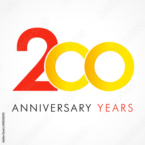 200 circle anniversary logo template logo 200th anniversary with a