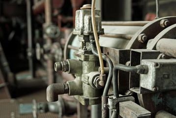 Industrieaggregat einer Maschine - Detailaufnahme eines Motors