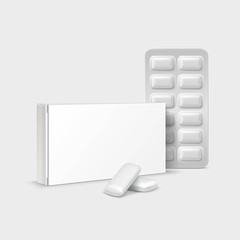 Pack of Chewing Gum Isolated on White Background